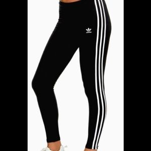 Three Stripe Leggings by Adidas